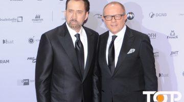 Hollywood Star Nicolas Cage und Stefan Schulze-Hausmann