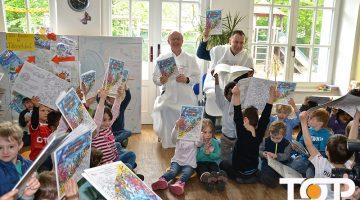 Begeisterung bei den Kindern über das Düsseldorfer Malbuch