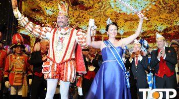 Prinz Carsten II. (Gossmann) und Venetia Yvonne (Stegel) voller Emotionen nach der Kürung